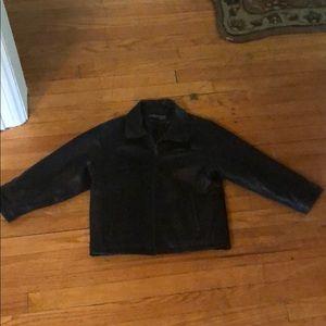 Black Leather Jacket-like new!